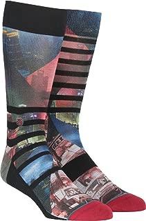 Stance Mens Night Out Casual Crew Socks, Maroon, Medium (6-8.5)