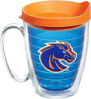 Tervis 1167074 Boise State Broncos Horse Head Tumbler with Emblem and Orange Lid 16oz Mug, Blue