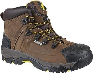 Amblers Safety - Calzado de protección de cuero para hombre marrón marrón