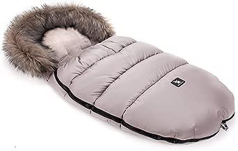 Cottonmoose Moose Saco de invierno dormir térmico para carrito silla de bebé universal abrigo polar - disponible en diferentes colores (422 Moose Latte-Latte)