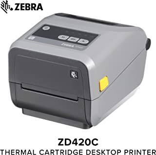 Zebra - ZD420t Thermal Transfer Desktop Printer for Labels and Barcodes - Print Width 4 in - 203 dpi - Interface: USB - ZD42042-T01000EZ