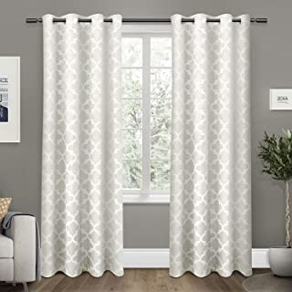 Exclusive Home Cartago Insulated Woven Blackout Grommet Top Curtain Panel Pair 54x84 EH7985-01 2-84G