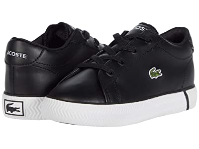 Lacoste Kids Gripshot 0120 2 CUI (Toddler/Little Kid) (Black/White) Kid