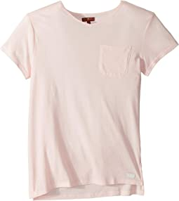 High-Low V-Neck Pocket Tee (Big Kids)