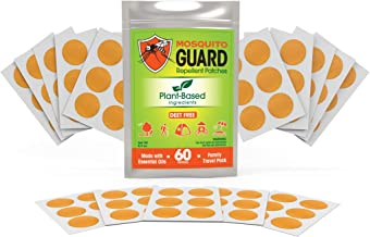 Mosquito Guard Repellent Stickers / Patches for Kids (60 Pack) Made with Natural Plant Based Ingredients - Citronella, Lem...