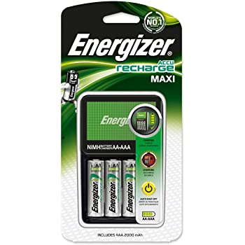 Energizer MAXI Charger 2000MAH Chvcm Caricabatterie Plug-in