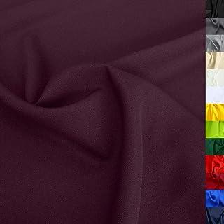 TOLKO Modestoff | Dekostoff universal Stoff zum Nähen Dekorieren | Blickdicht, knitterarm | 150cm breit Meterware Bekleidungsstoffe Dekostoffe Vorhangstoffe Baumwollstoffe Basteln Patchwork Bordeaux