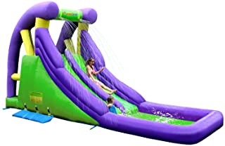 Inflatable Double Water Slide with Splash Pool