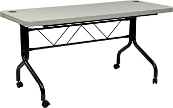 Office Star Resin Multi-Purpose Flip Table with Locking Casters, 5-Feet Long - coolthings.us