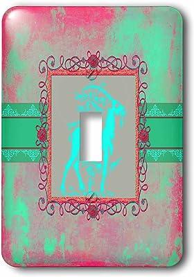 3dRose lsp/_77725/_1 Pretty Deep Blue Vintage Floral Design Single Toggle Switch
