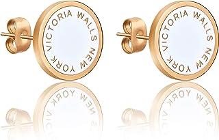 Victoria Walls Women's Synthetic Pearl Earrings - VE10101G