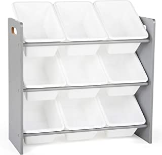Tot Tutors WO848 Toy Organizer, 9 Bin Storage, Grey/White, 24