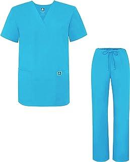 Adar Universal Divise sanitarie Unisex - Divise ospedaliere con Cordoncino - 701 - Turquoise - L