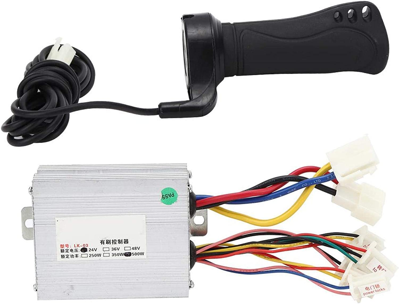 YJZO Accesorios para Bicicletas eléctricas 24V 500W Bicicleta eléctrica Controlador Cepillado Cable de extensión Manillar Accesorios para Bicicletas eléctricas