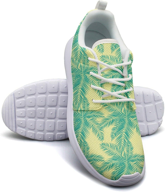 Beautifil Palm Tree Leaf Women's Fashion Sneakers shoes Cute Mesh Lightweight Sneaker