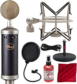 Blue Baby Bottle SL Large-Diaphragm Studio Condenser Microphone with Pop Filter and Accessory Bundle