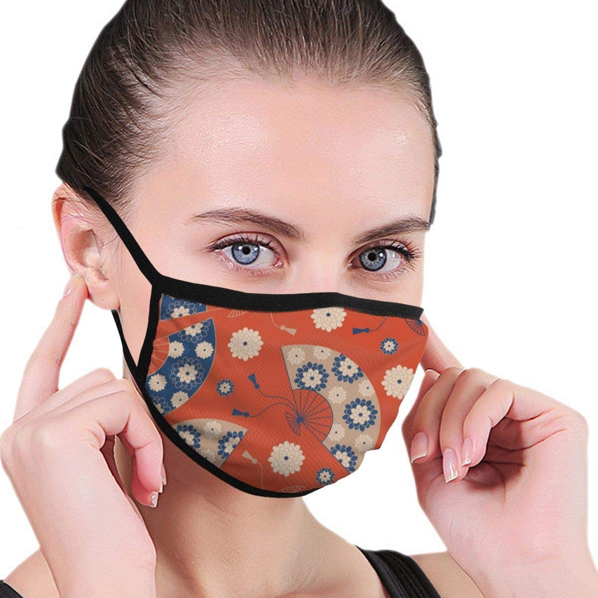 Leopard Skin 80s-90sMen's Women's Print Warm Washable Reusable Ear Warmer Neck Warmer Construction Mouth Wear