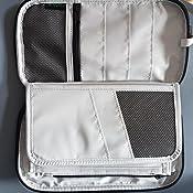 Kreditkarten und mehr- Grau JESWO Reisepass Tasche Bargeld Visitenkarten Passport Reiseorganizer Reisedokumententasche mit RFID-Schutz multifunktionale Passport Wallet Reiseetui f/ür Kleingeld