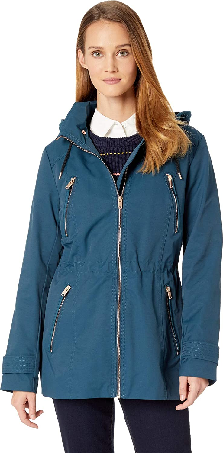 Marc New York by Andrew Marc Womens Raincoat Anorak w Detachable Hood