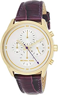 Michael Kors Slater Women'S White Dial Leather Band Watch - Mk2687