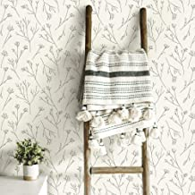 RoomMates RMK11678WP Twigs Peel & Stick Wallpaper, Brown, White