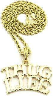 Fashion 21 Gold Tone Plain Thug Life Pendant 24