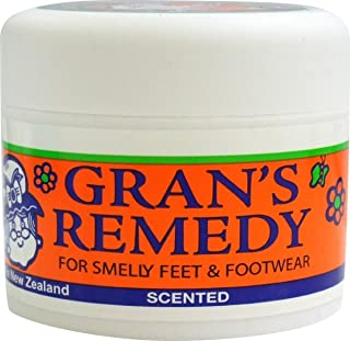 Foot Odor Eliminator for Smelly Feet & Footwear, Foot Care Powder Cause it Kills the Bacteria up to 6 Months, Freshens Better Than Spray Deodorant it Disinfects & Deodorizes Shoes & Boots by Gran's Re