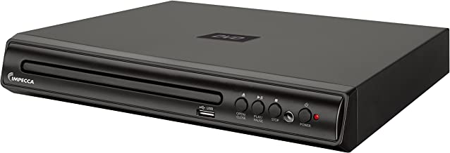 Impecca Compact DVD Player – Digital DVD Player with Remote Control and Built-in PAL/ NTSC System, USB Input DVD Player (DVHP9109)
