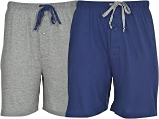 Hanes Mens Jersey Lounge Drawstring Shorts with Logo...