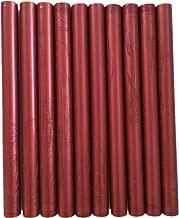 XICHEN10PCS Vintage Sealing Glue Gun Sealing Wax Wax Sticks Wax Seal Supplies a Variety of Colors (New Red Wine)