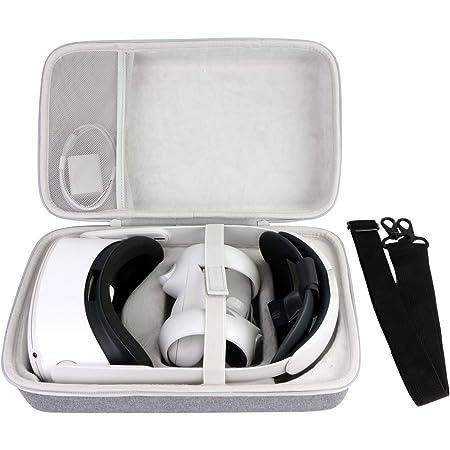 co2CREA Duro Viaggio Caso Copertina per Oculus Quest / Oculus Quest 2 visore VR all-in-one da 64GB 128GB 256 GB(solo scatola,non includere VR Headset ) (Custodia grigia)