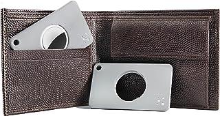 AirTag用ウォレットケースホルダー(2個セット)、財布用AirTagと互換性のあるクレジットカードサイズのウォレットホルダー、キーチェーン穴付きAirTag用ウォレットカードホルダー、スリムな紛失防止ウォレットカードトラッカー