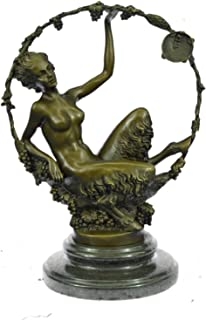 Handmade European Bronze Sculpture Art Nouveau HotCast Female Satyr by Aurore Onu Figurine Bronze Statue -JPEP-1066-Decor Collectible Gift