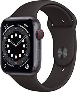 (Refurbished) AppleWatch Series 6 (GPS + Cellular, 44mm) - Space Gray Aluminum Case with Black...