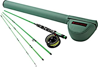Redington Fly Fishing Combo Kit 580-4 Minnow Outfit with Crosswater Reel 5 Wt 8-Foot 4pc Color 1