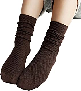 iSpchen, Butterme 3?Pares Mujer Super Suave Lana Calcetines Vintage Solid Color Algod¨®n Invierno C¨²mulos Medias Calcetines Botas Calcetines Medias Calcetines CAF¨¦ Talla ¨²nica