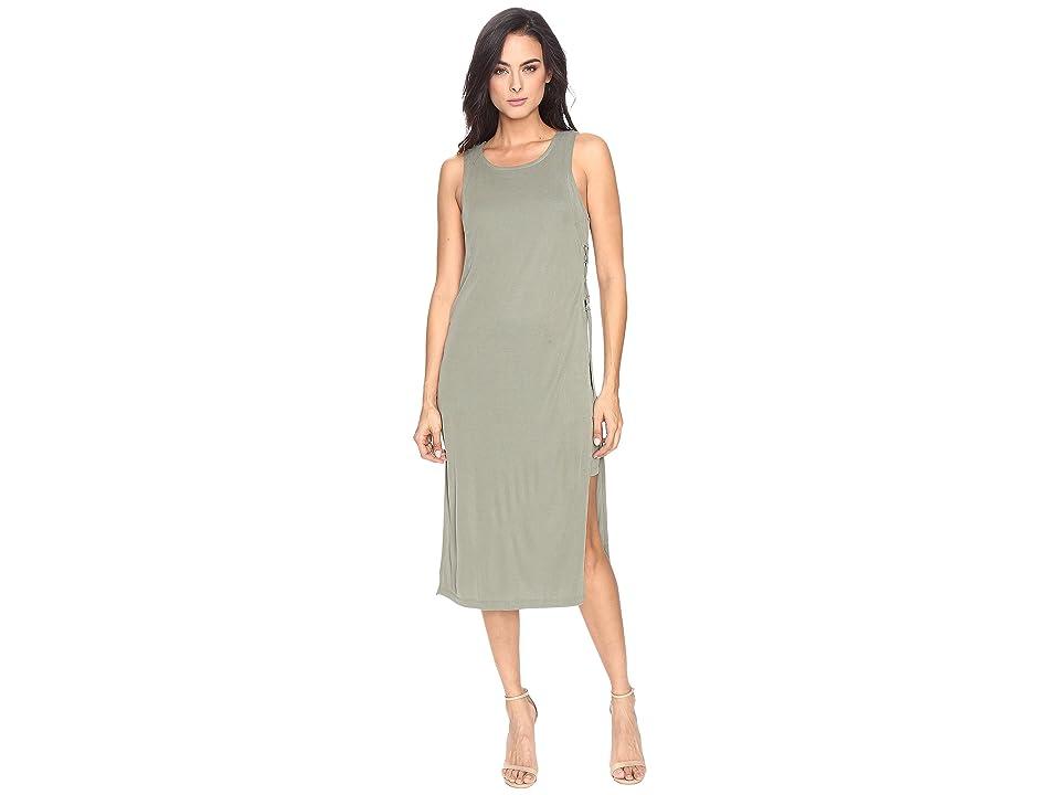 Splendid Sandwash Rib Dress (Moss) Women
