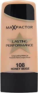 Max Factor Long Lasting Performance Foundation, No.108 Honey Beige, 1.1 Ounce