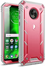Moto G6 Rugged Case, Poetic Revolution [360 Degree Protection] Full-Body Rugged Heavy Duty Case with [Built-in-Screen Protector] for Motorola Moto G6 Pink