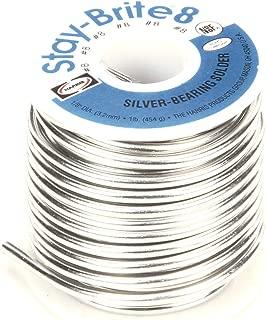 "Harris Stay-Brite #8 Silver Bearing Solder 1//16/"" 1 lb Pound Spool SB831"