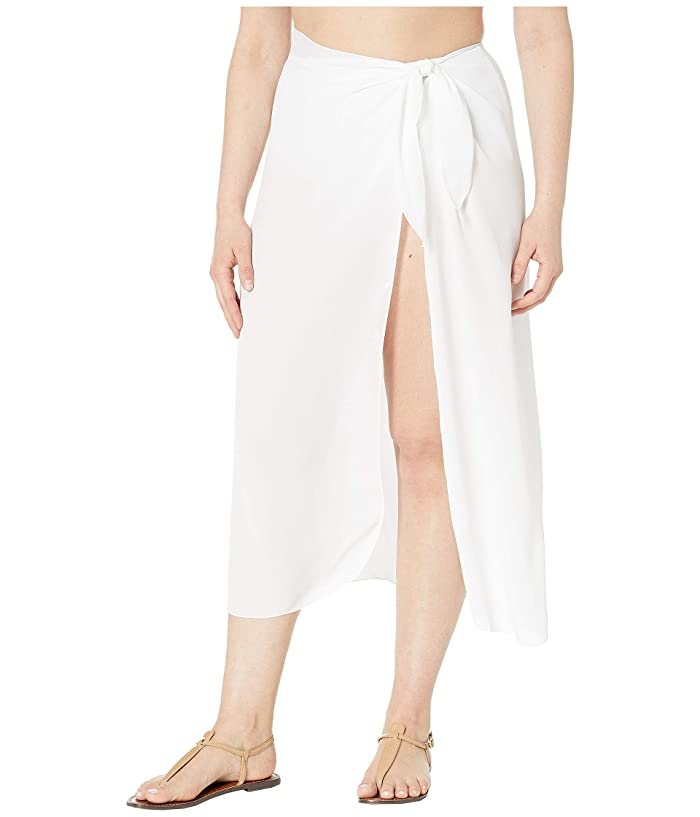 DOTTI Plus Size Long Summer Sarong Pareo Cover-Up (White) Women