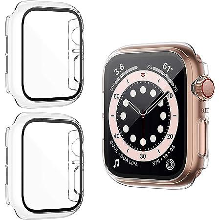 HAPAW Protector de Pantalla Compatible con Apple Watch SE/Serie 6/5/4 40 mm, [Paquete de 2] Estuches para PC iWatch Cobertura Total Cubierta Protectora, Compatible con iWatch Series SE/Serie 6/5/4