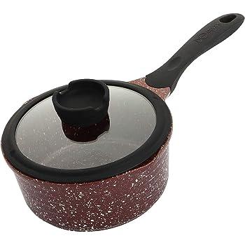 HUSHUN Petite po/êle /à sauce casserole anti-adh/ésive pour les potages au lait Casserole de Rev/êtement Anti-Adh/érent Tous Feux Dont Induction-120 ml