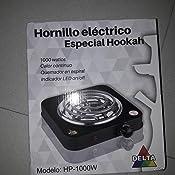 Hornillo Eléctrico Delta para cachimba 1.000W (negro)
