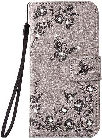Jbtec Handy Hülle Case Schmetterlinge Strass Elektronik