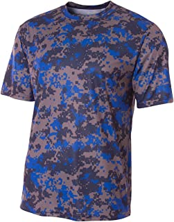 Camouflage Athletic Moisture Wicking Jersey Crew Shirt (6 Camo Colors in Youth & Adult Sizes)