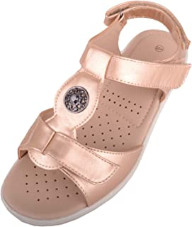 Absolute Footwear Womens Light Weight Casual Wide Fitting Sandal/Shoes with Ripper Fastening