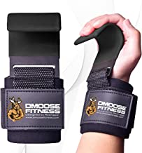 DMoose Fitness Hook Grips For Weight Lifting Powerlifting Workouts Or Crossfit Thick Gloves Wrist Support Neoprene Padding Non Slip Bar
