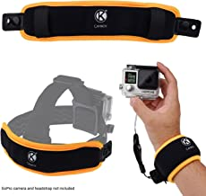 CamKix 2in1 Floating Wrist Strap & Headstrap Floater Compatible with GoPro Hero 7, 6, 5, Black, Session, Hero 4, Session, Black, Silver, Session, Hero+ LCD, 3+, 3