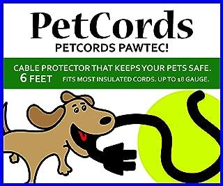 PetCords ミニ6フィート犬と猫の臍帯充電ケーブルを介して噛むからあなたのペットを保護は、保護されます。 fits- iphone、Androidや他のUSBケーブル、無香料、無臭